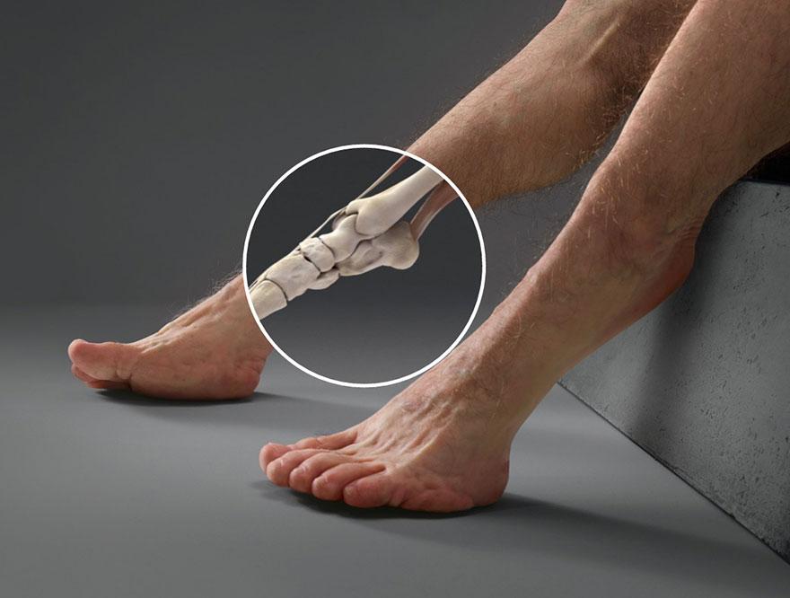 Ноги идеального человека для выживания в ДТП