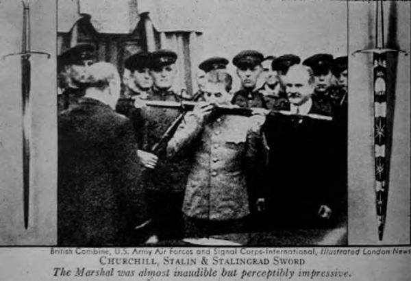 Сталин принял оружие и поцеловал ножны