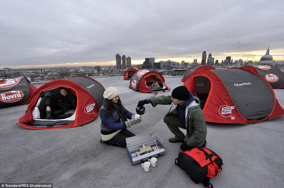 Экстремальный городской лагерь в Лондоне