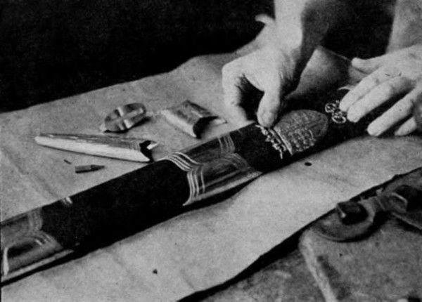 Ножны у него более современные