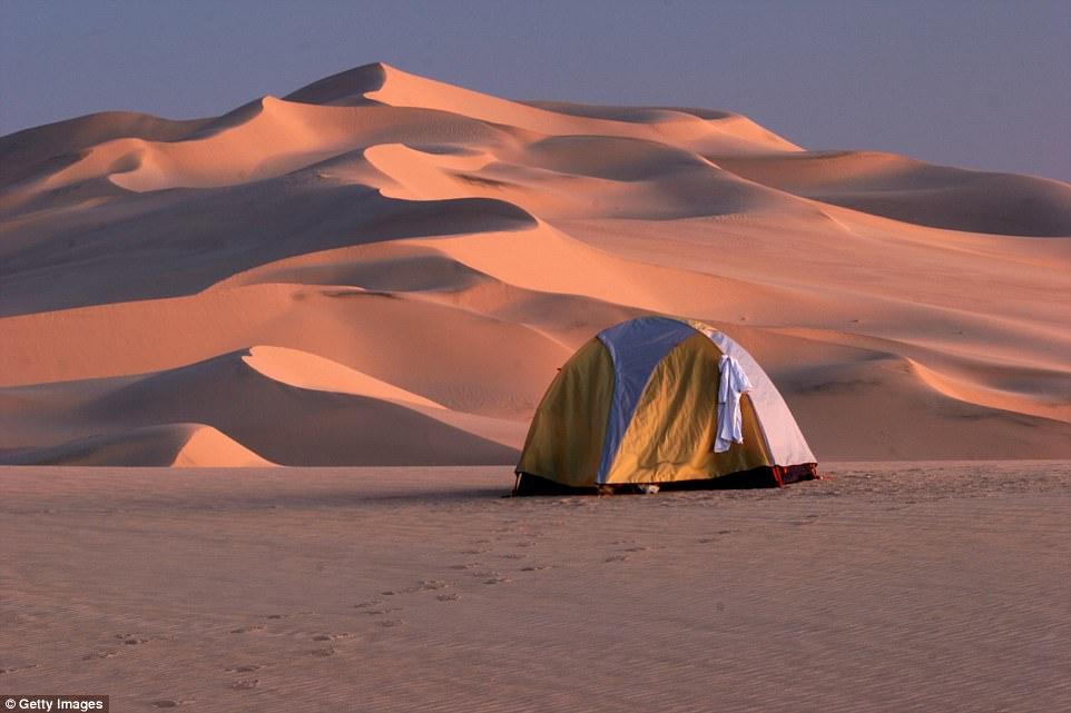 Кемпинг в пустыне Сахара