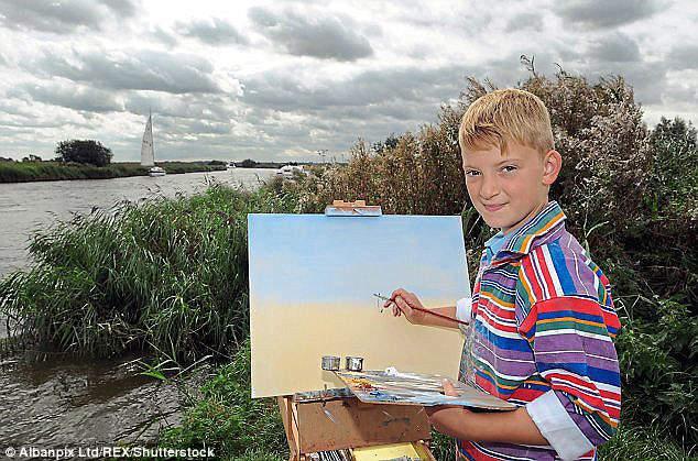 10-летний Кирон Уильямсон за работой