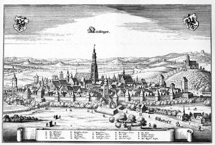 Нёрдлинген около 1650 г.