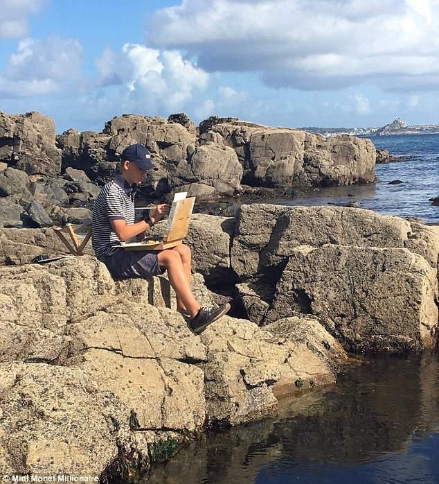 Кирон Уильямсон рисует пейзаж в родном Норфолке