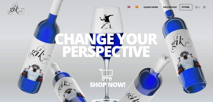 Сайт стартапа Gïk gik.blue