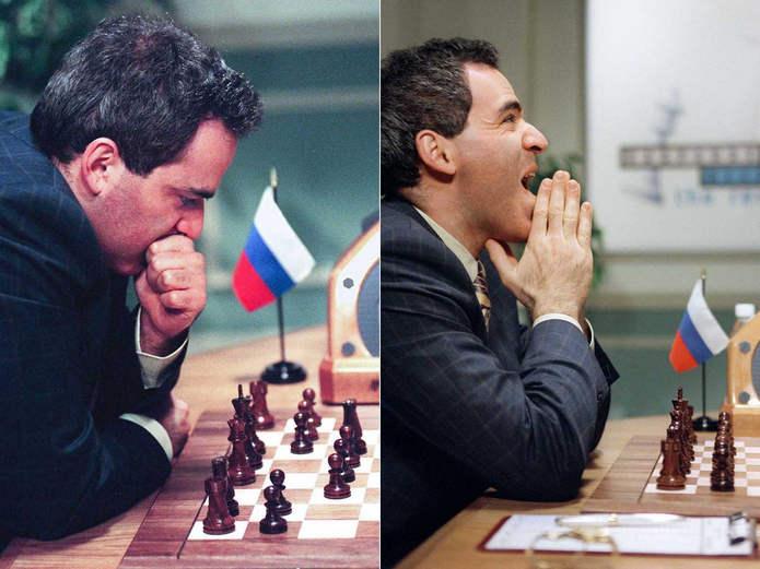 Каспаров в игре с Deep Blue