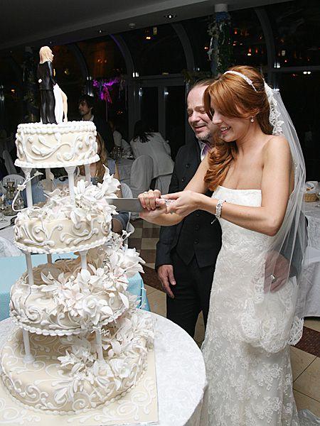 Свадебный торт Владимира Преснякова и Натальи Подольской