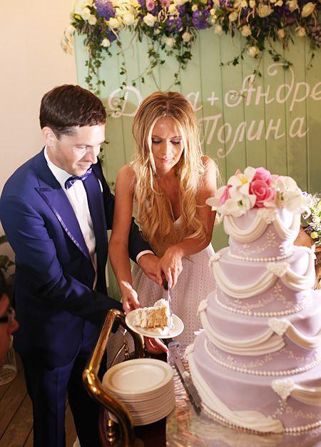 Свадебный торт Дана Борисовой и Андрея Трощенко