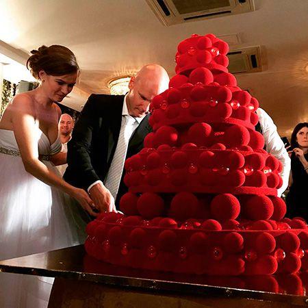 Свадебный торт Евгения Коротышкина и Марии Ланиной