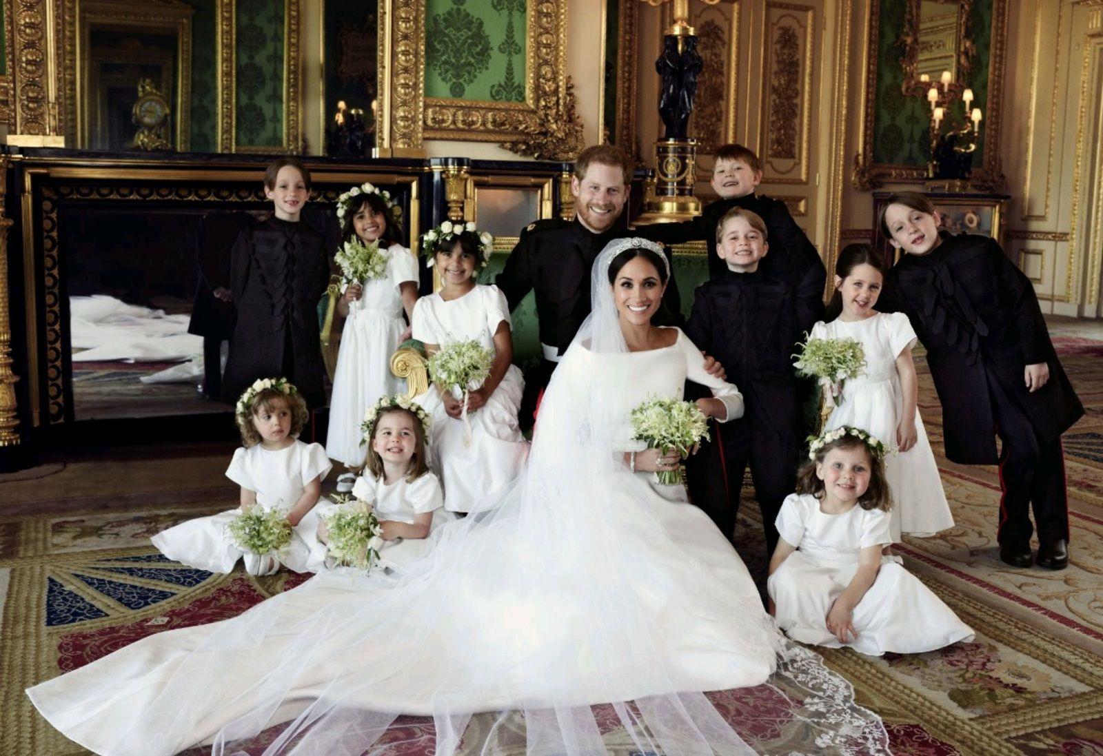 Принц Гарри и Меган Маркл с детьми