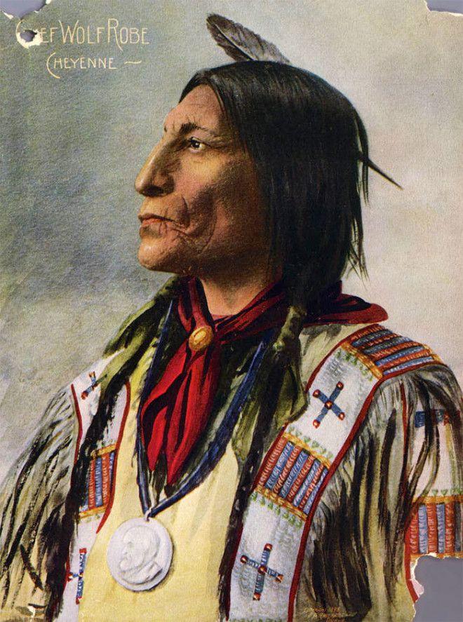Волчья Мантия, вождь племени шайеннов, 1898