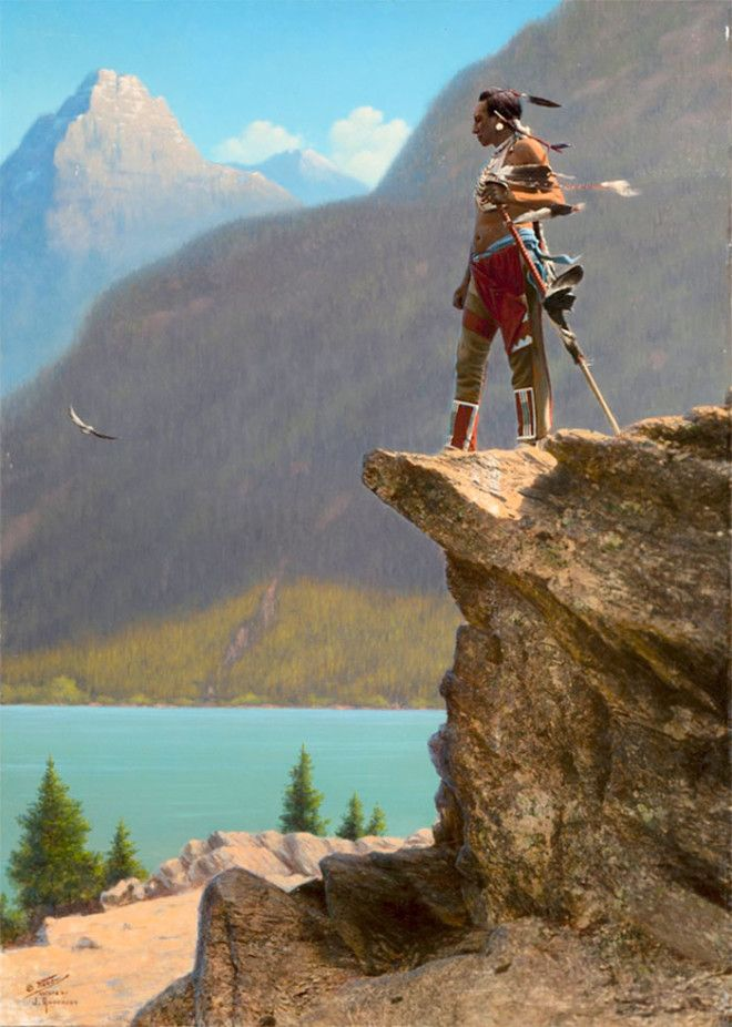 Индеец на дозоре, Монтана, начало XX века