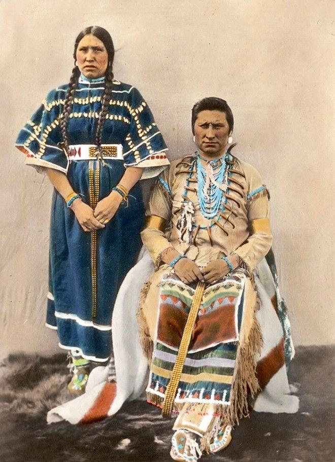 Пара из племени сиксики, Монтана, начало XX века