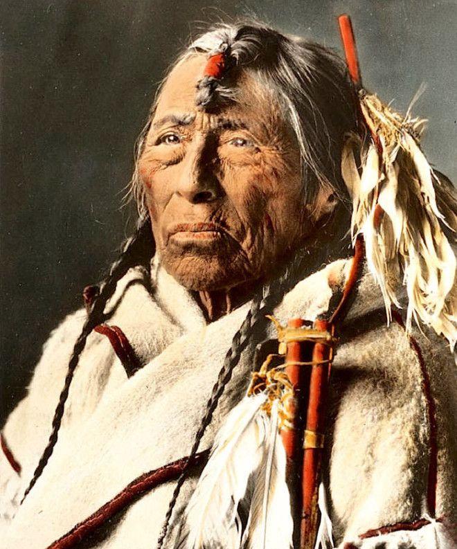 Орлиная Стрела из племени сиксики, Монтана, начало XX века