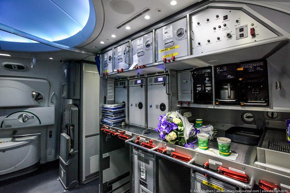Кухня Boeing 787 Dreamliner