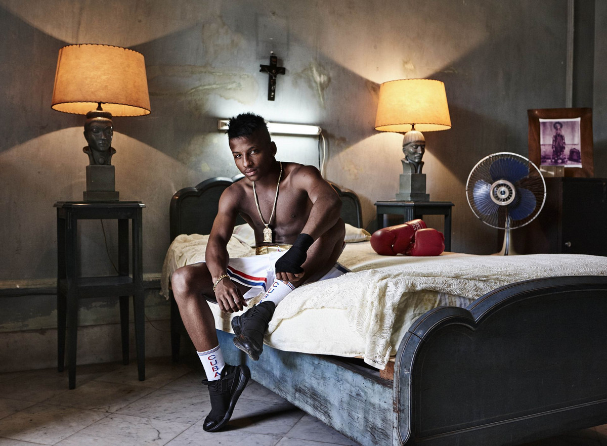 Кубинский боксёр Хоанис Архилагос Автор фото: Катинка Герберт.