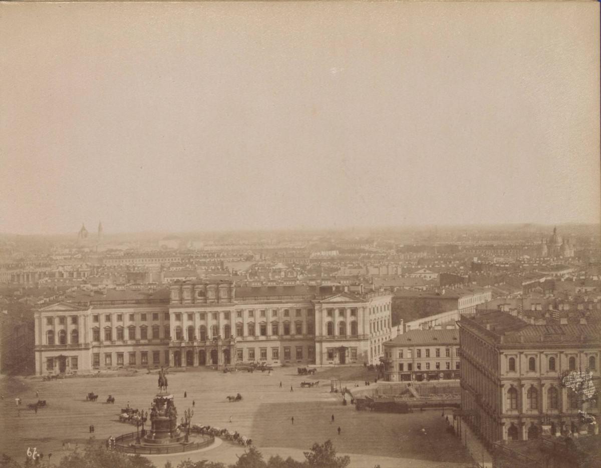 Панорама Санкт-Петербурга в 1880-х годах.