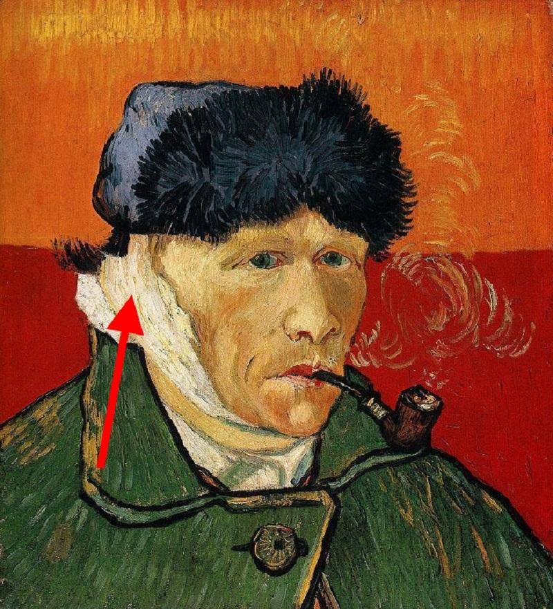 «Автопортрете с отрезанным ухом и трубкой» Винсент Ван Гог