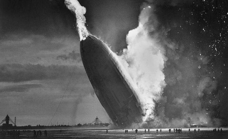 Крушение дирижабля «Гинденбург», 6 мая 1937 года.