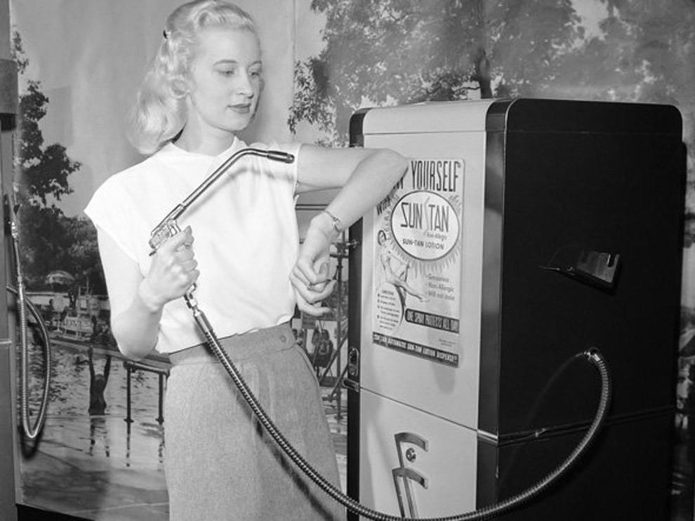 Автомат для загара, 1949 год.