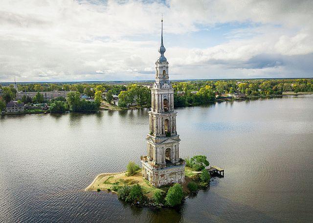 Затопленная колокольня, Калязин