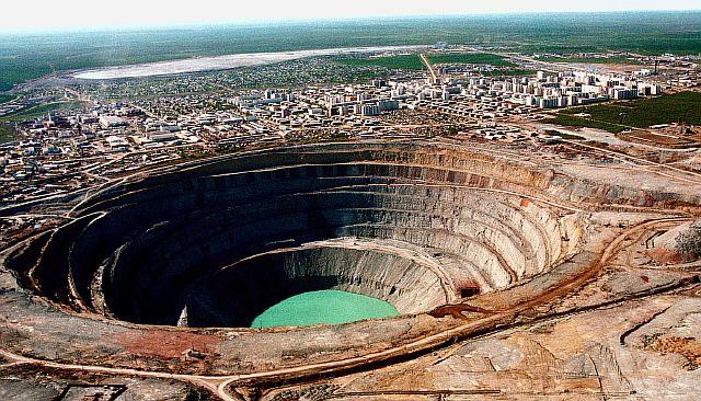 Алмазная шахта «Мир», Якутия