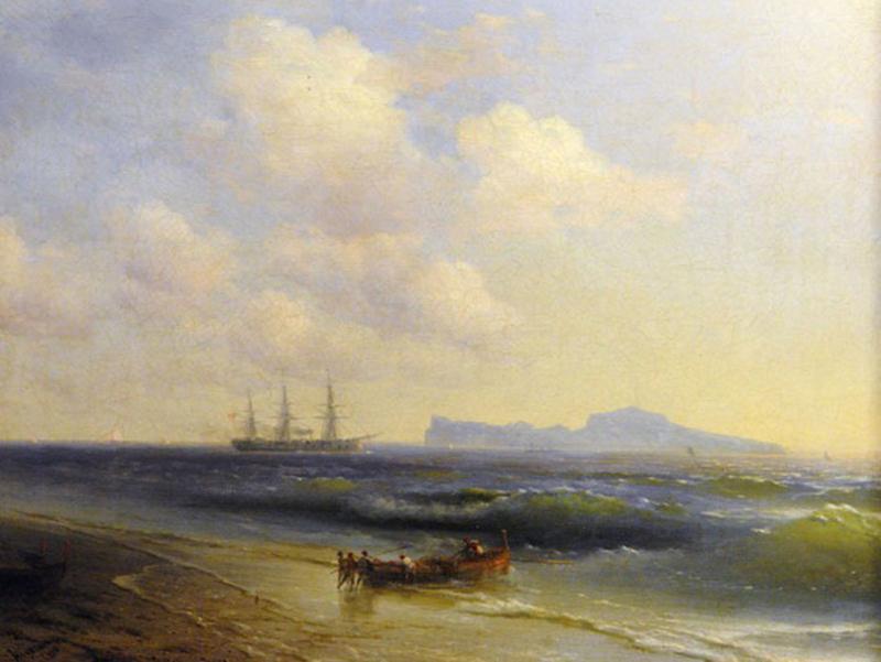 Иван Айвазовский «Море у острова Капри» (Тарусская картинная галерея)