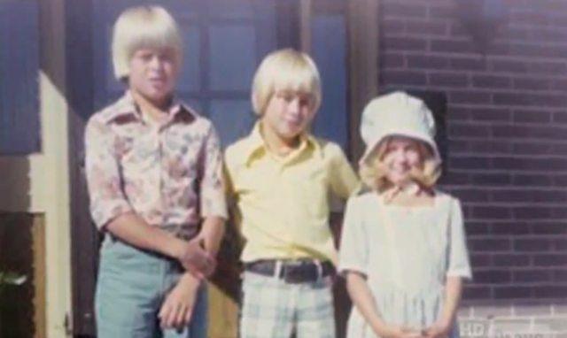 Брэд Питт в детстве с сестрой Джулией и братом Дагом