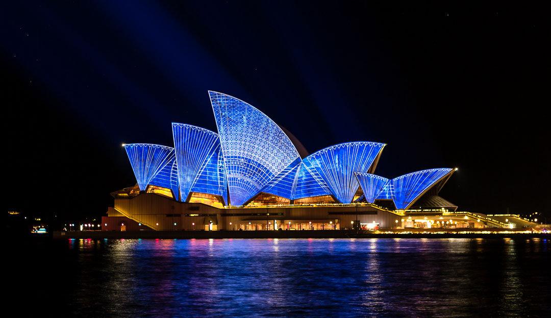 Сиднейская Опера ночью