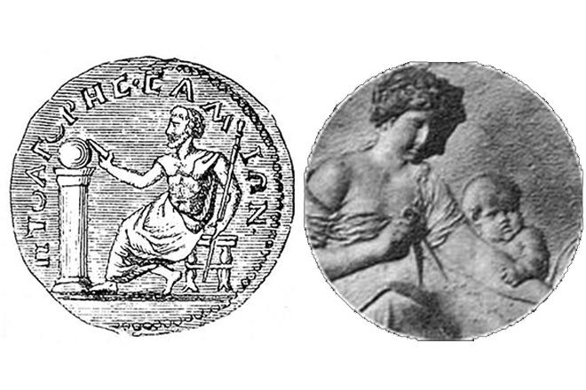 Пифагор и его жена Феана