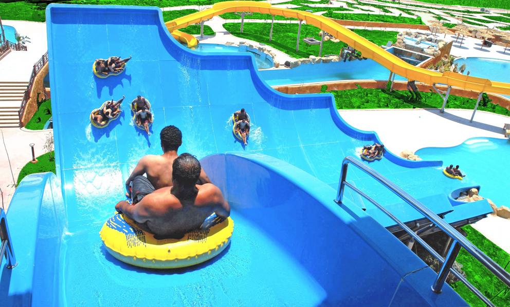 Аквапарк отеля Mirage-Aqua-Park