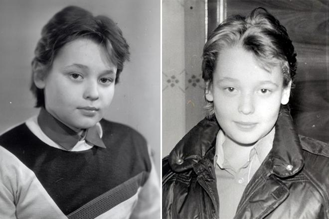 Сергей Жуков в детстве