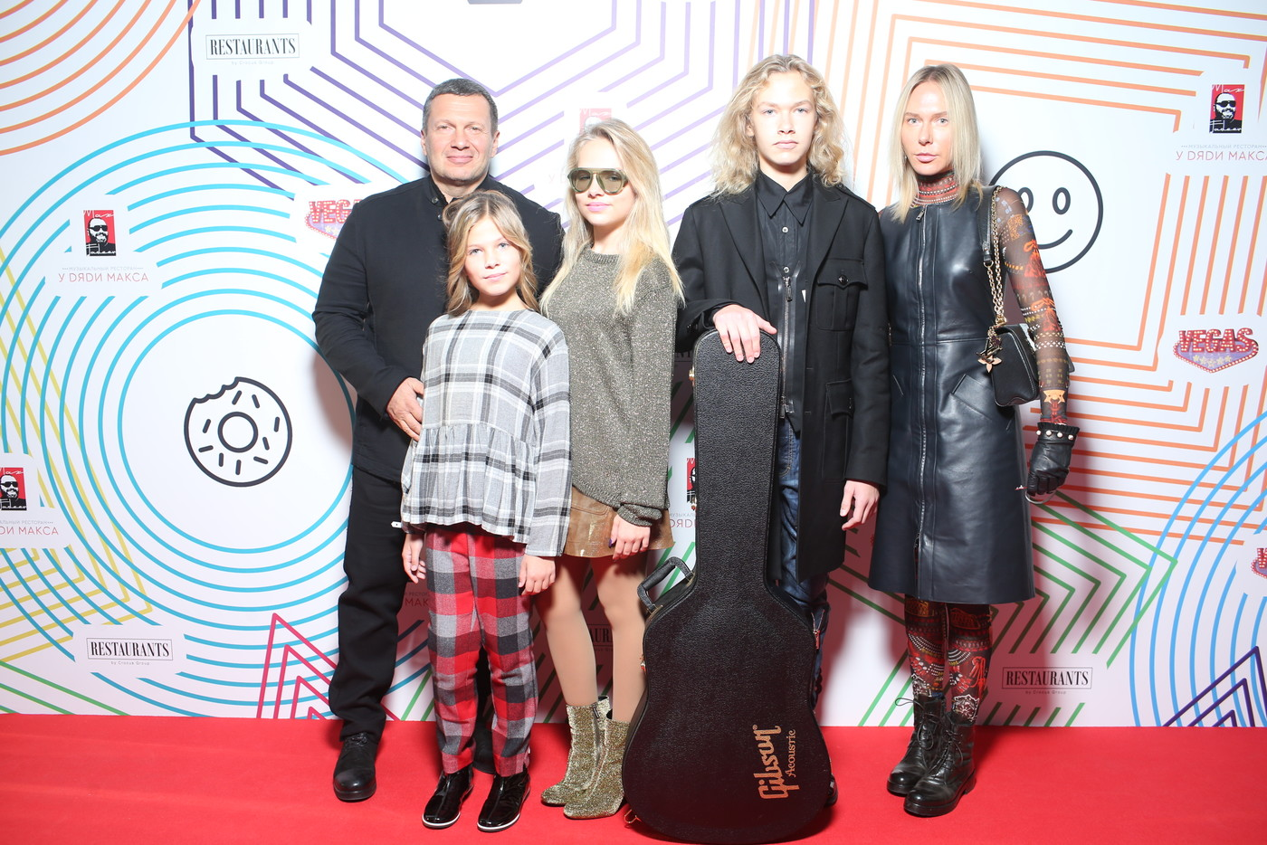 Владимир Соловьев с семьей