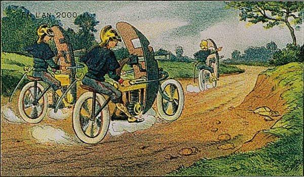 Мотоциклетные пулеметчики. Более годилось бы немцам такое сочинить