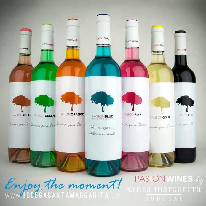 Разноцветное вино от испанских виноделов