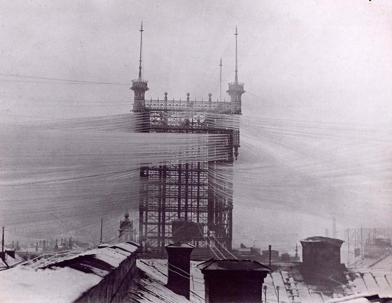 Телефонная башня. Стокгольм, 1890 год