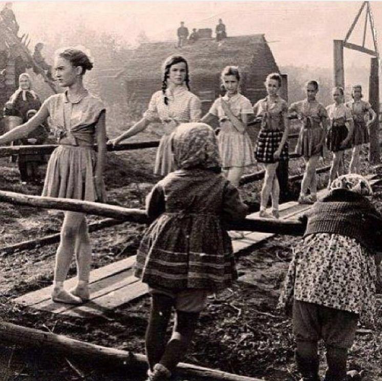 Балетная школа в эвакуации, СССР, 1943 год