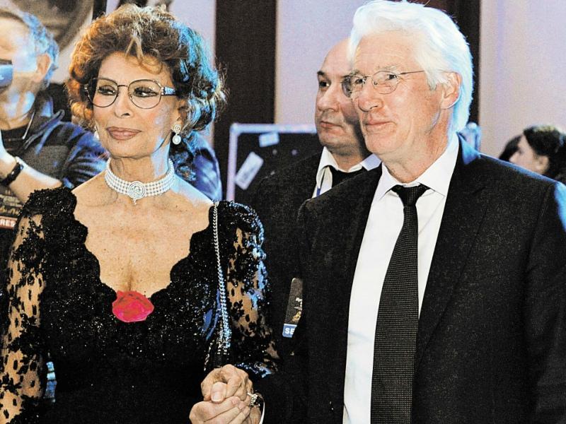 Ричард Гир с Софи Лорен в Москве