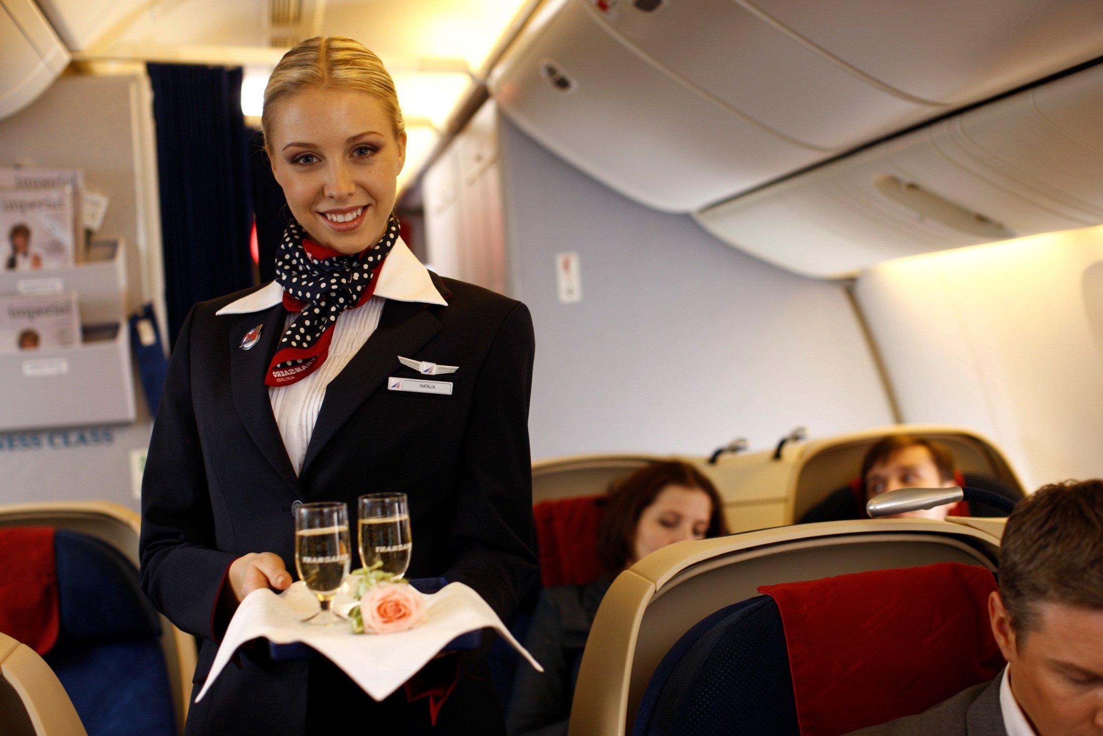 Стюардеса, самолет