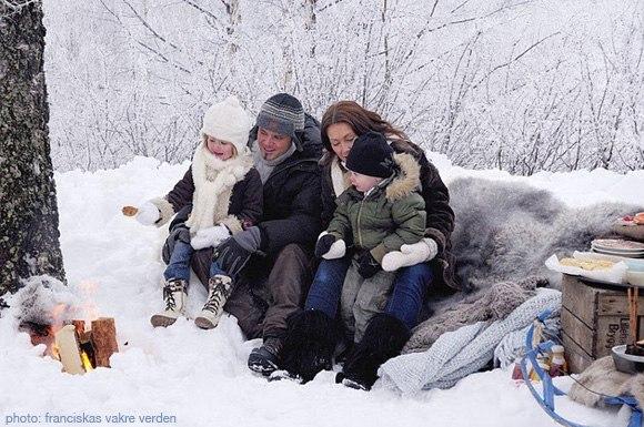 Зимняя охота с семьей