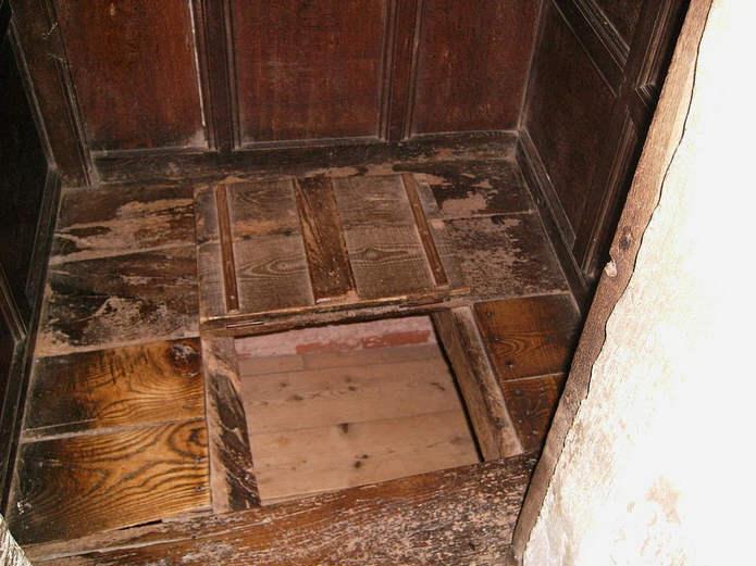 Укрытие на первом этаже дома Боскобел, Шропшир