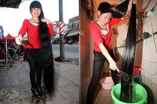 Китаянка КсиеКвипинг, самые длинные волосы