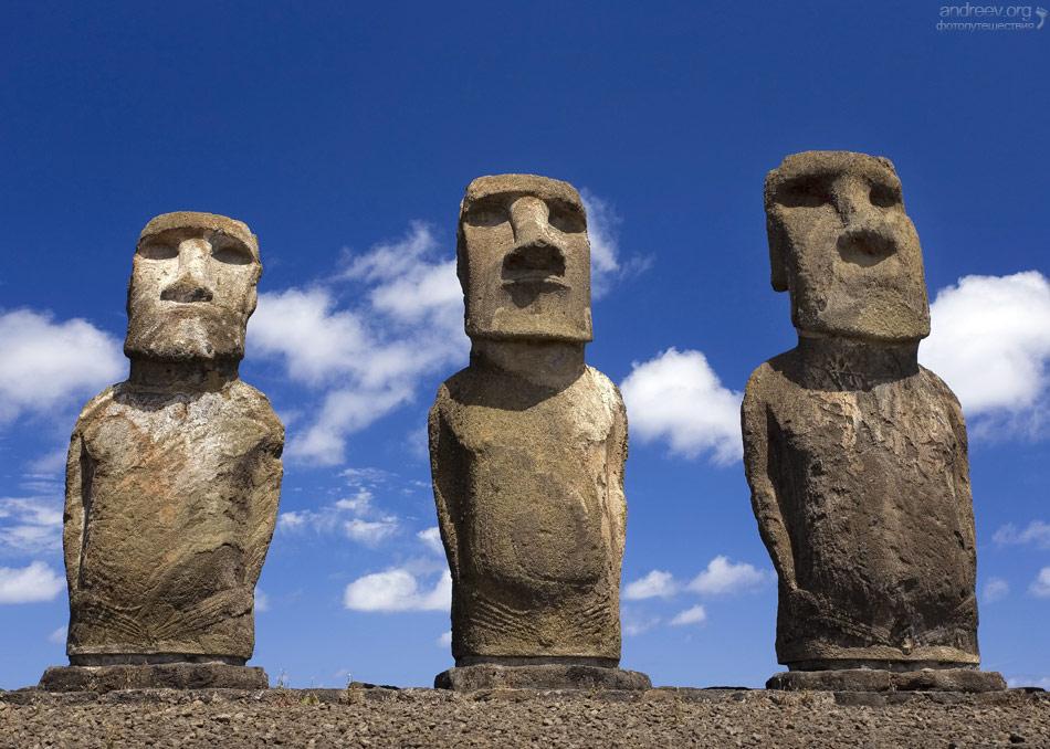 Каменные шляпы у истуканов острова Пасхи по мнению ученых