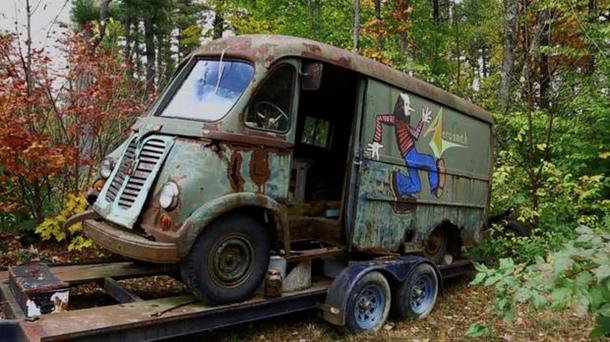 Гастрольный фургон Aerosmith - Аэросмит нашли в лесу США