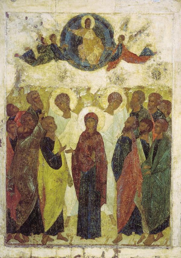 Вознесение из иконостаса Успенского собора во Владимире, 1408