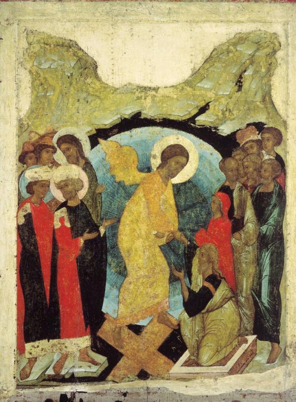 Сошествие в ад из иконостаса Успенского собора во Владимире, 1408