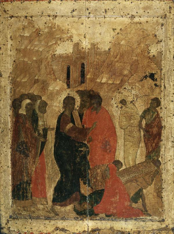 Воскрешение Лазаря Преображение Благовещенского собора Московского Кремля