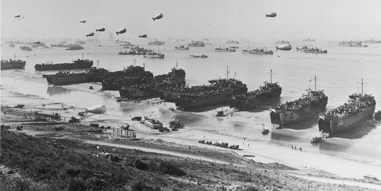 Высадка в Нормандии 6 июня 1944 года в фото