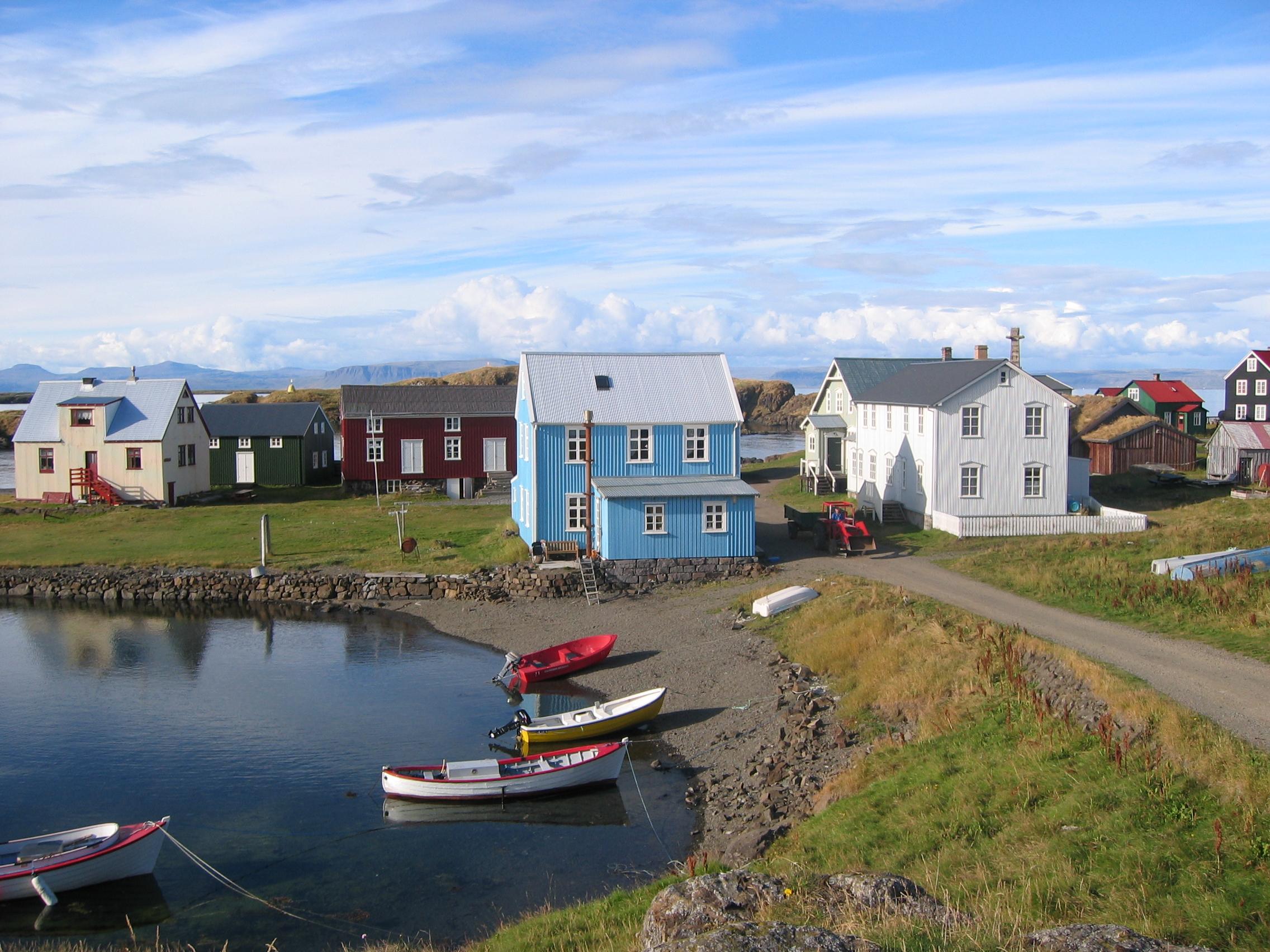 Исландский остров Флатей